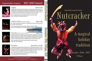 Virginia Ballet Company Nutcracker 12/29/2017 7:00pm